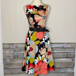 DAVID MEISTER 2 Floral Fit & Flare Easter Dress